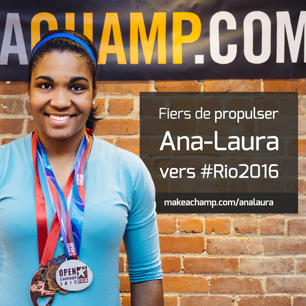 ana laura supported by MAKEACHAMP